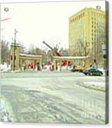 Mcgill University Campus Sherbrooke Street Scene Early Morning Winter Day Montreal Carole Spandau Acrylic Print
