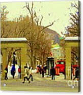 Mcgill University Roddick Gates Class Of 2013 Winter Semester Montreal Collectible Prints C Spandau Acrylic Print
