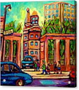 Mcgill University Roddick Gates Montreal Acrylic Print