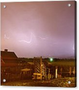 Mcintosh Farm Lightning Thunderstorm View Acrylic Print