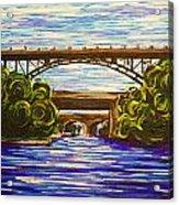 Mcquesten High Level Bridge Hamilton On Acrylic Print