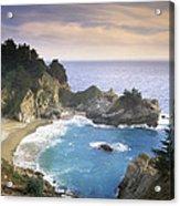 Mcway Cove Falls In Big Sur Acrylic Print