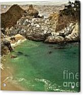 Mcway Falling Into The Pacific Acrylic Print by Adam Jewell