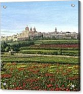 Mdina Poppies Malta Acrylic Print by Richard Harpum