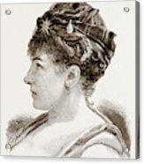Mdme. Marie Roze, Of Her Majestys Opera Acrylic Print