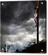 Me And Jesus Acrylic Print by Mark Spears