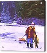 Me And My Buddy Acrylic Print