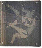 Me Fighting Bill Waits 1954 Acrylic Print