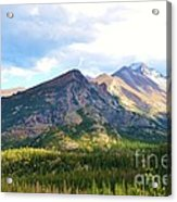 Meadow And Mountains Acrylic Print