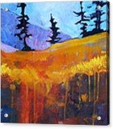 Meadow Mountain Acrylic Print