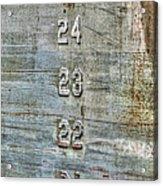 Measure Of Draft Acrylic Print