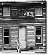 Meat And Cheese Market Black And White Acrylic Print