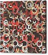 Mechanic Geometric Circle Segment Pattern Acrylic Print