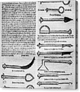 Medical Instruments, 1531 Acrylic Print