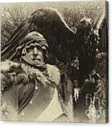 Medieval Barbarian Artur And Spirit 2 Acrylic Print