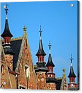 Medieval Buildings Towers And Vanes Acrylic Print