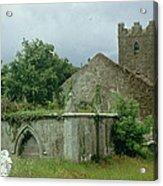 Medieval Church And Churchyard Acrylic Print