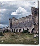 Medieval City Wall Defence Acrylic Print