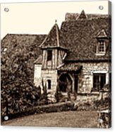 Medieval Cottage In Sarlat Sepia Acrylic Print