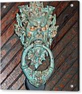 Medieval Door Knocker - Hammond Castle Acrylic Print