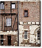 Medieval Houses In Albi France Acrylic Print by Elena Elisseeva