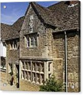 Medieval Houses In Lacock Village Acrylic Print