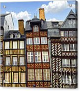 Medieval Houses In Rennes Acrylic Print