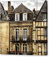 Medieval Houses In Vannes Acrylic Print