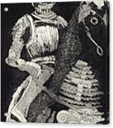 Medieval Knight On Horseback - Chevalier - Caballero - Cavaleiro - Fidalgo - Riddare -ridder -ritter Acrylic Print