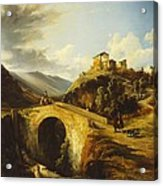 Medieval Landscape Acrylic Print