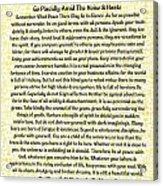Medieval Provencal Desiderata Poster Acrylic Print