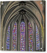 Medieval Stained Glass Acrylic Print