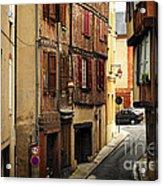 Medieval Street In Albi France Acrylic Print by Elena Elisseeva