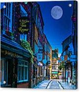 Medieval Street In York Uk Acrylic Print