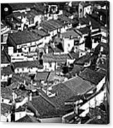 Medieval Town Rooftops Acrylic Print by Jose Elias - Sofia Pereira