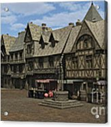 Medieval Town Square Acrylic Print