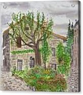Medieval Village In France 2012 Acrylic Print