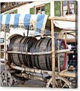 Medieval Wagon Used For Transporting Wine Acrylic Print by Elzbieta Fazel