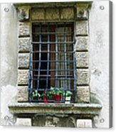 Medieval Window With Iron Grilles Acrylic Print