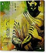 Meditating Buddha Acrylic Print