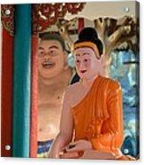 Meditating Buddha In Lotus Position Acrylic Print