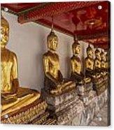 Meditating Buddhas Acrylic Print