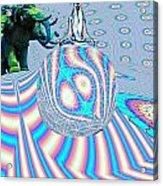 Meditating On Ganesh Acrylic Print by Jason Saunders