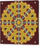 Meditating On Life - Mandala Acrylic Print
