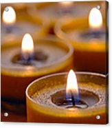 Meditation Candles Path Acrylic Print by Olivier Le Queinec
