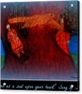 Meditation Number 3 Song Of Songs Acrylic Print by Maryann  DAmico