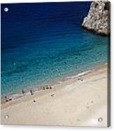Mediterranean Coastal Scene Acrylic Print