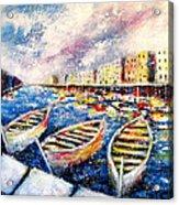 Mediterranean Port Colours Acrylic Print