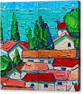 Mediterranean Roofs 1 2 Acrylic Print