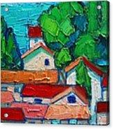 Mediterranean Roofs 2 Acrylic Print